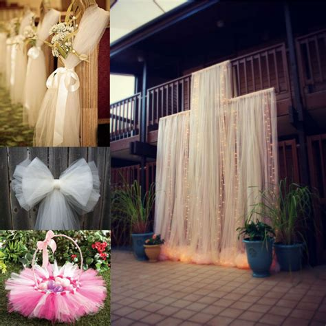 how to decorate with tulle fabric unique interior bolt tulle 54 quot x40yards tutu fabric nylon pew bow bridal