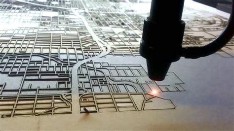 Jasa Laser Cutting Model laser cut map by cutmaps