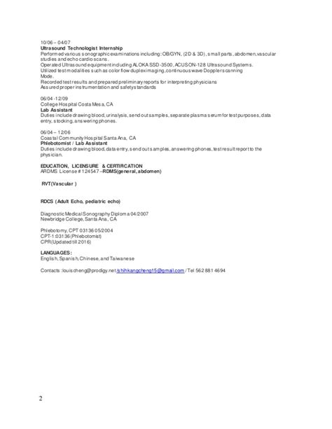 College Hospital Costa Mesa Detox by Resume 2015 A Pe