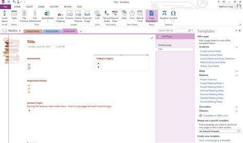 daily planner template onenote use onenote templates to streamline assembly elegance
