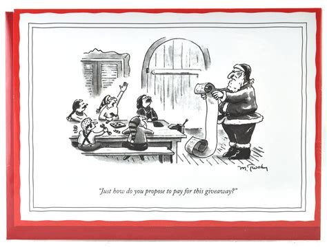 Give Away 5x7 Christmas Card   New Yorker Xmas Cards Funny Humorous Cartoons for a Unique Gift