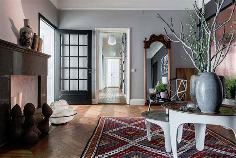 bright  airy plant filled apartment  oestermalm sweden
