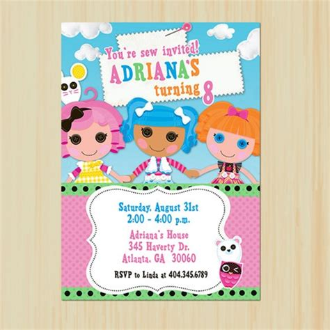 lalaloopsy birthday invitations party invitations ideas lalaloopsy birthday invitation