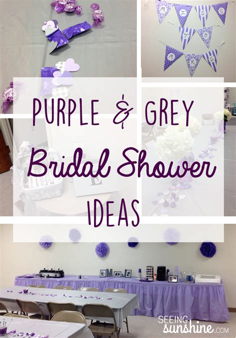 Purple Bridal Shower Decorations by Purple Bridal Shower Ideas