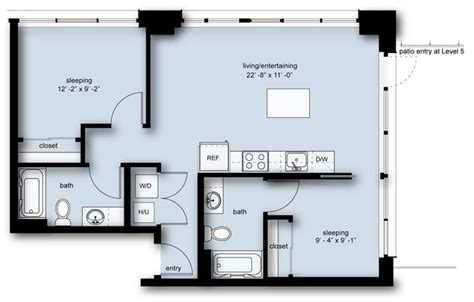 insignia seattle floor plans the nolo at stadium place apartments in pioneer square