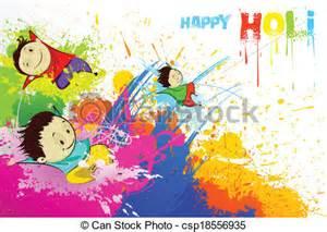 Eco Friendly Home Plans vectors of kids enjoying holi easy to edit vector