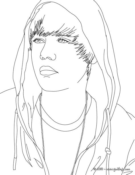 dibujos para colorear retrato de justin bieber es hellokids