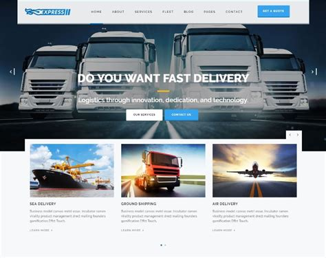 Express Logistics Transport Logistics Html Template 25 best logistics transportation responsive