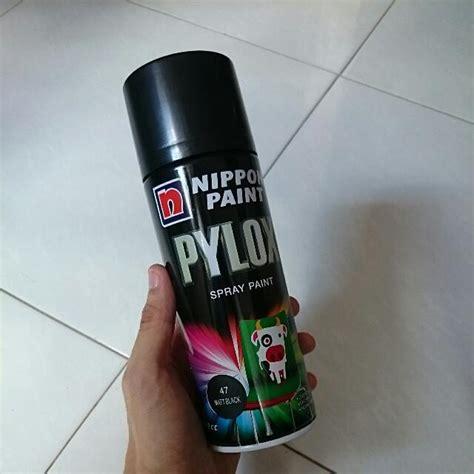 spray paint pylox pylox nippon paint spray paint 47 matt black 400 cc