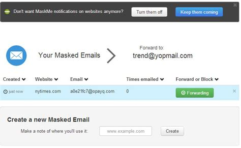 email disposable maskme create disposable email addresses on the fly