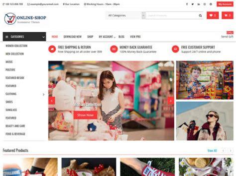 membuat online shop wordpress theme wordpress online shop responsive free centerklik