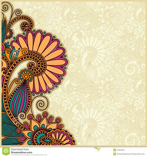 wallpaper ethnic design flower background design stock vector image 44946554