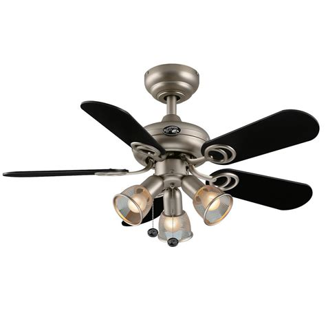 36 ceiling fan with light hton bay san marino 36 in led indoor brushed steel