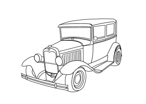 old hot rod drawings coloring page coloring pages