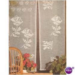 Crochet Curtain Pattern Curtains With Roses On Ebid United