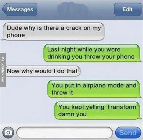 Drunk Texting Meme - cracked phone drunk text