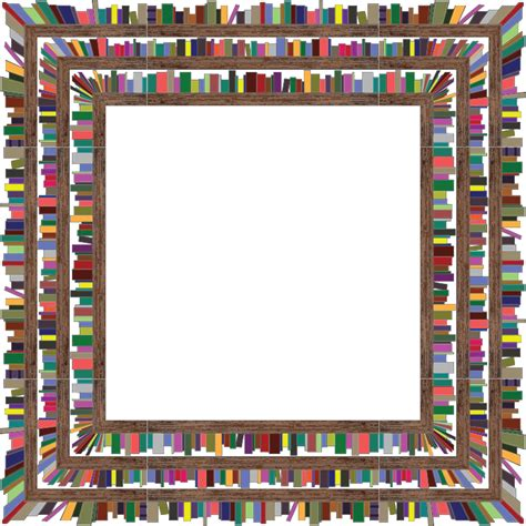 picture frame book clipart square bookshelves