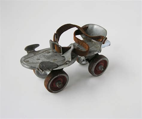 Bookshelf With Wheels Vintage Roller Skate With Key By Icondesign On Etsy