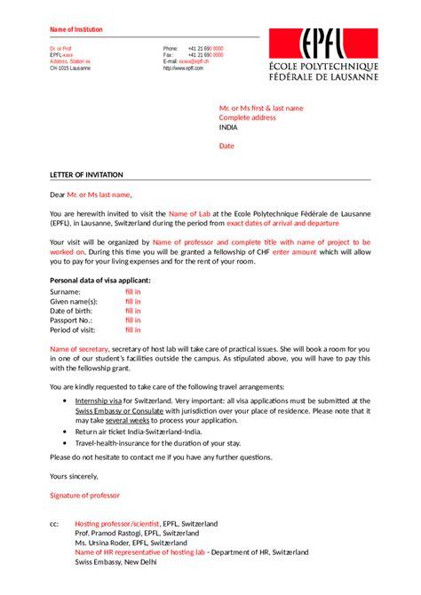 invitation letter for visa sle switzerland letter address format switzerland 28 images global
