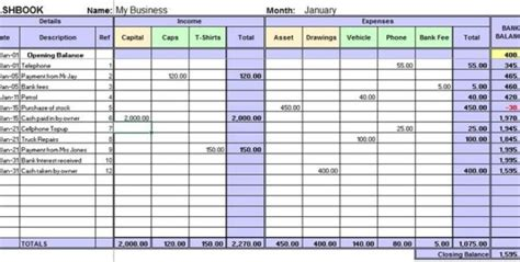 excel accounting template for small business 4 small