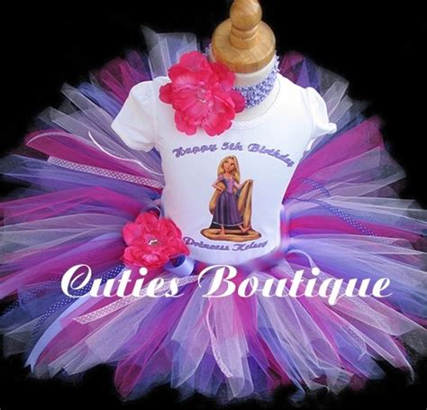 set tutu gotik anak size 0 3th 18 faith 5th bday repunzel birthday set with tutu and