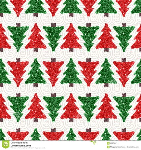 christmas tree pattern in c christmas trees pattern stock vector image 63573627