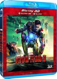 iron man 3 3d blu ray (france)