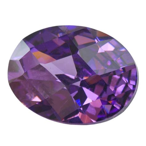 Amesthy Cut Checkerboard cubic zirconia amethyst oval checkerboard cool tools