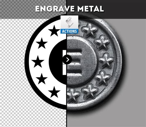 metal engraved mockup create a metal coin in photoshop photoshop tutorial