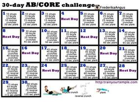 30 day home workout plan 30 day ab core challenge challenges tribesports