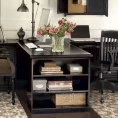 Home Office Desks For Two People by Two Desks With A Shared Side That Ends With A Bookcase As