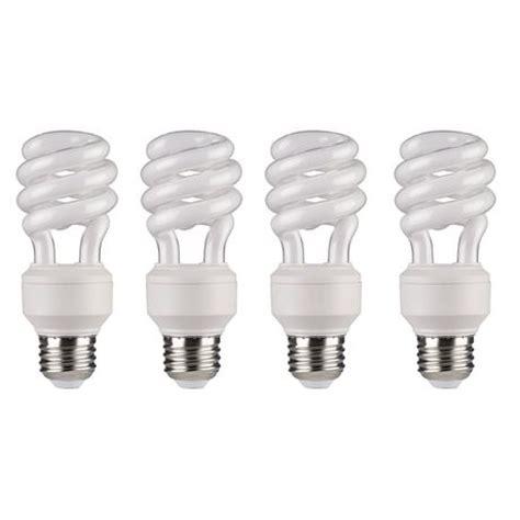 cfl light bulbs walmart great value compact fluorescent light t3 14w soft white