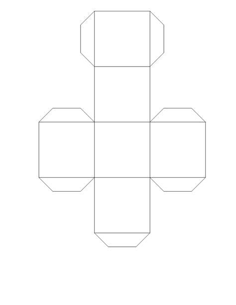 Anak Kesayangan: Papercraft Kubus Sederhana