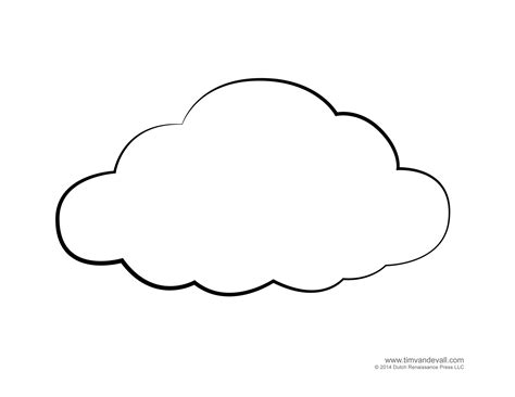 Outline Picture by Weather For Free Cloud Templates And Weather Coloring Pages