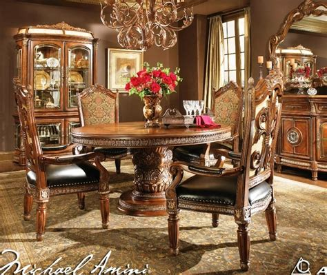 aico dining room set aico furniture villa valencia round dining room set
