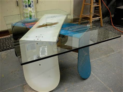 clayton woodworks snowboard coffee table