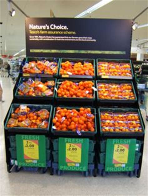 Shelf Merchandising Techniques by Tesco Upmarket On Visual Merchandising Retail And Food