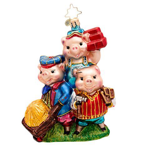 christopher radko ornaments christopher radko piggly constructors three pigs