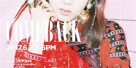 blackpink comeback 2017 blackpink ส งท เซอร ค มแบคสมาช กคนท 2 jisoo hallyu k
