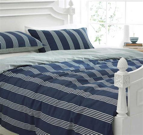 navy blue and white striped bedding navy blue and white bedding nautica knots bay bedding