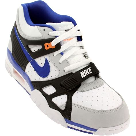 bo jackson shoes 705426 001 nike air trainer white blue orange bo