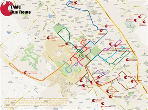 tamu cus map tamu routes