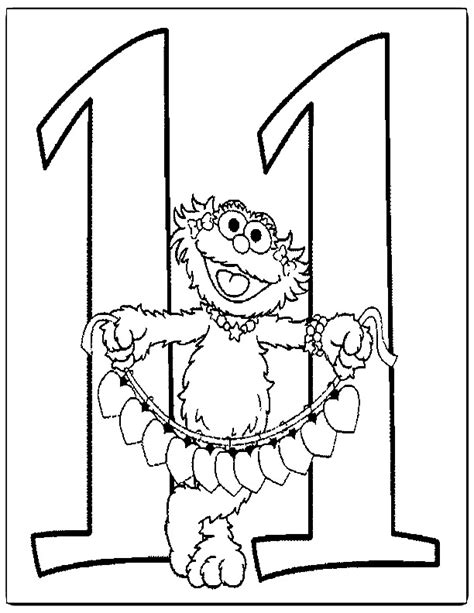 number 11 coloring pages az coloring pages