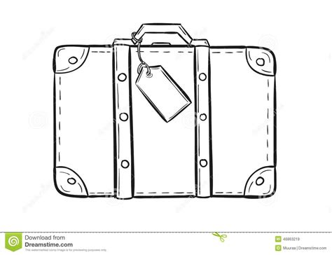 sketch of the suitcase stock vector image 46863219