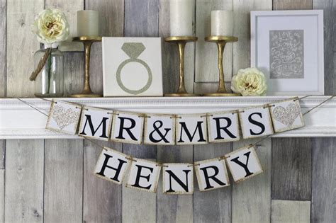 Wedding Banner Mr And Mrs by Mr And Mrs Sign Mr And Mrs Banner Mr And Mrs Wedding