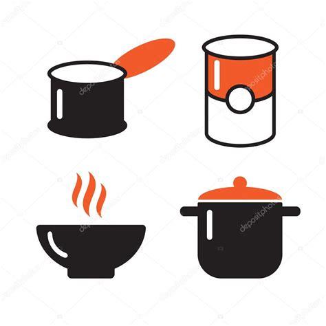 pots stock illustration image 45254770 그릇 수 및 pot 블랙 아이콘 세트입니다 수프 기호입니다 냄비 아이콘 기구 그릇 기구 요리 수프