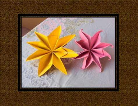 Origami Flower Napkin - origami maniacs origami flower napkin