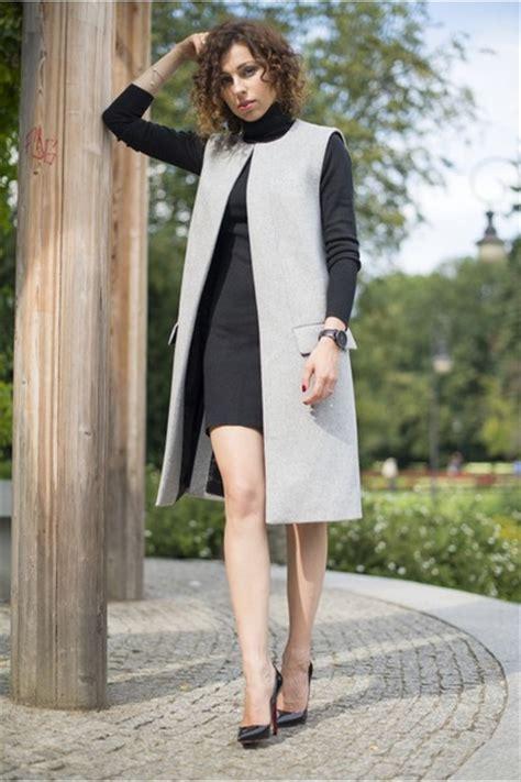 Dress Zara Vest black turtleneck atmosphere dresses gray