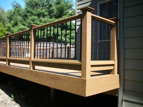 Deck Railing And Balusters Sw Portland Deck Addition Cedar Railing With Metal