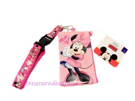 Tokyo Disneyland Minnie Id Card Holder disney minnie mouse lanyard ticket id disneyland fastpass holder badge new pouch ebay